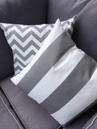 grey outdoor cushion