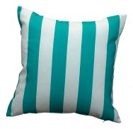 Turquoise stripe garden cushion