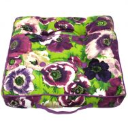 purple floral garden cushion