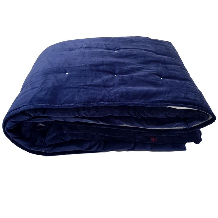 navy blue velvet blanket