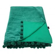 emerald green velvet throw