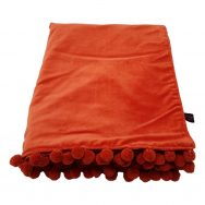 rust orange velvet throw
