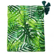 jungle leaves green velvet throw