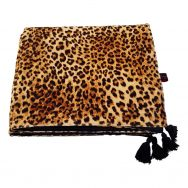 leopard print velvet throw