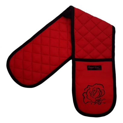 red double oven gloves