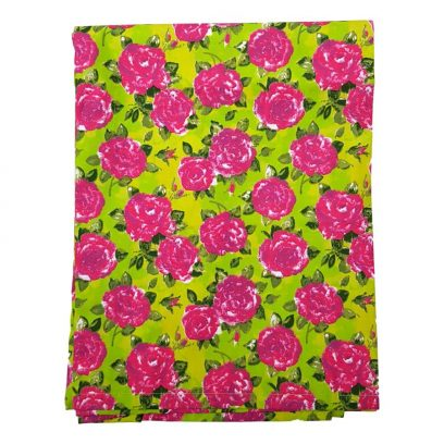 lime rose tablecloth