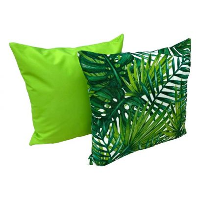 botanical leaves showerproof garden cushion