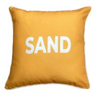 SAND gold showerproof garden cushion