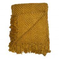 gold chunky knit throw