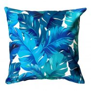 blue showerproof garden cushion