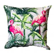 flamingos showerproof garden cushion