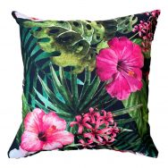 Pink Hibiscus Showerproof Garden Cushion