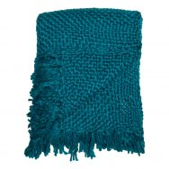 Turquoise Chunky Knit Throw