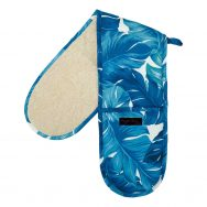 turquoise palms double oven gloves