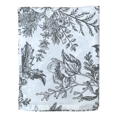 silver grey holly berry christmas tablecloth
